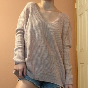 F21 Dusty Pink Loose Knit Sweater